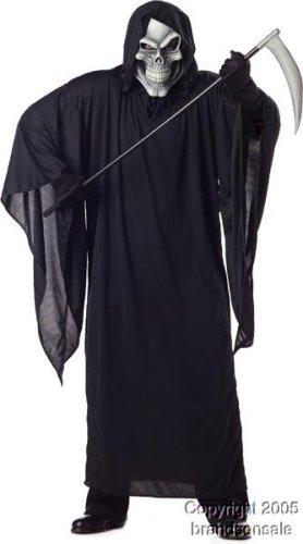 Adult Men's Plus Size Grim Reaper Halloween Costume