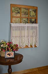 Curtain Chic Fairmount Tier, 56 by 36-Inch, White