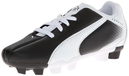 PUMA Adreno Firm Ground JR Soccer Shoe (Infant/Toddler/Little Kid/Big Kid), Black/White, 5.5 M US Big Kid
