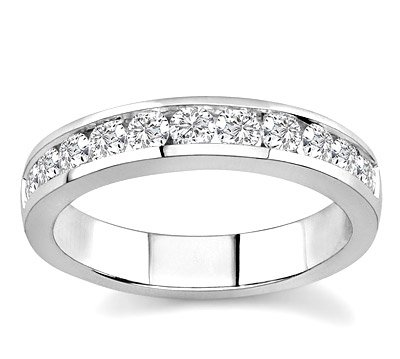 10k White Gold or Yellow Gold Channel-Set Diamond Band (H/I2-I3 3/4 ct. tw.)