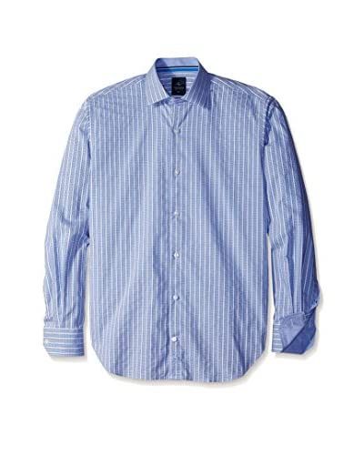 TailorByrd Men's Mini Check Sportshirt with Contrast Cuff