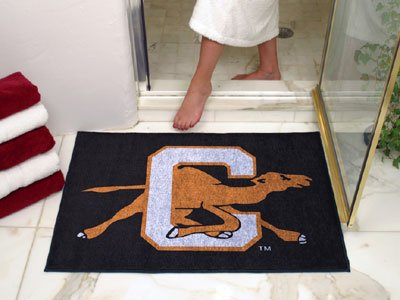 NCAA Campbell Camels Chromo Jet Printed Rectangular Area Rug Floor Mat 45