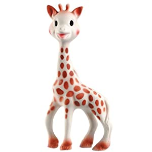 Vulli Sophie the Giraffe Teether, Brown/ White