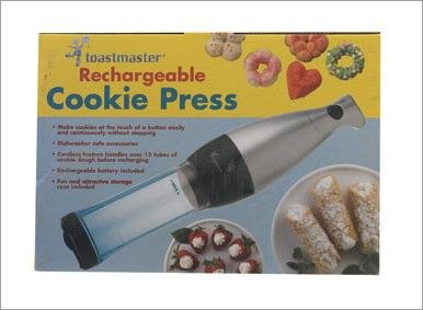 Toastmaster Rechargeable Cookie Press TMCKM2S
