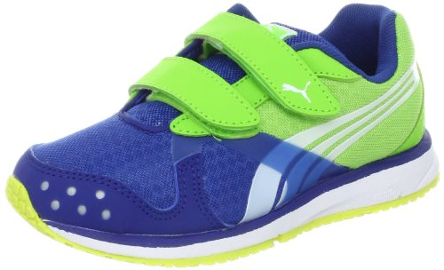 PUMA Faas 300 R V Running Shoe (Toddler/Little Kid/Big Kid),Monoco Blue/White/Jasmine Green,7 M US Toddler
