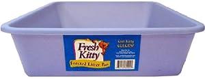 Fresh Kitty Frosted Litter Pan, Blue, Green, Purple