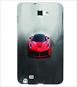 PRINTSWAG RED CAR Designer Back Cover Case for SAMSUNG GALAXY NOTE 1 N7000