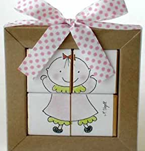chocolate puzzle baby shower favors baby girl