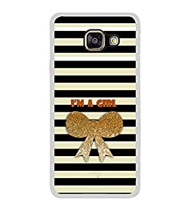 ifasho I am a girl Back Case Cover for Samsung Galaxy A3 (2016)