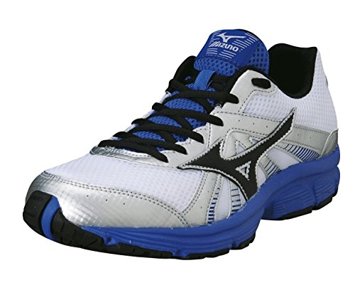 Mizuno Wave Crusader 8 Men'S Running Shoes, White/Black/Blue, Us10.5