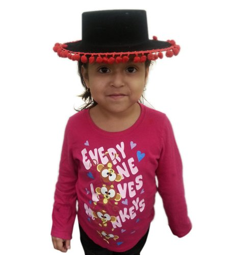 Bull Fighter Hat - Child's Bull Fighter Hat With Red Trim