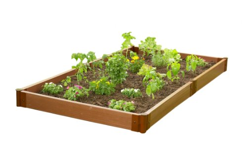 Frame It All SBX-GNS 8-Foot x 4-Foot x 6-Inch Raised Garden and Sandbox Kit