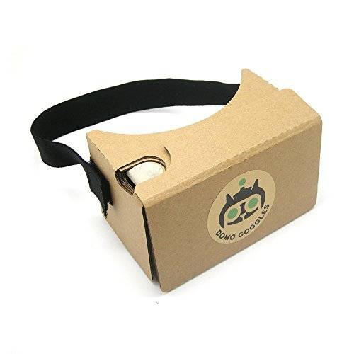 Google Cardboard V2 Inspired Virtual Reality VR Headset with Head Strap by DOMO Cardboard for Android&iPhone