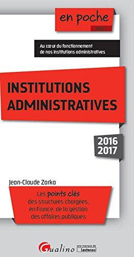 Institutions administratives 2016-2017