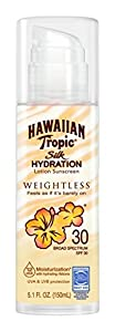 Hawaiian Tropic Silk Hydration Weightless Sun Care Sunscreen Lotion SPF, 5.1 Ounce