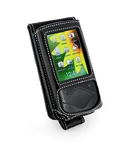 Tuff-Luv Klassische Lederhülle für Samsung YP-Q1, schwarz