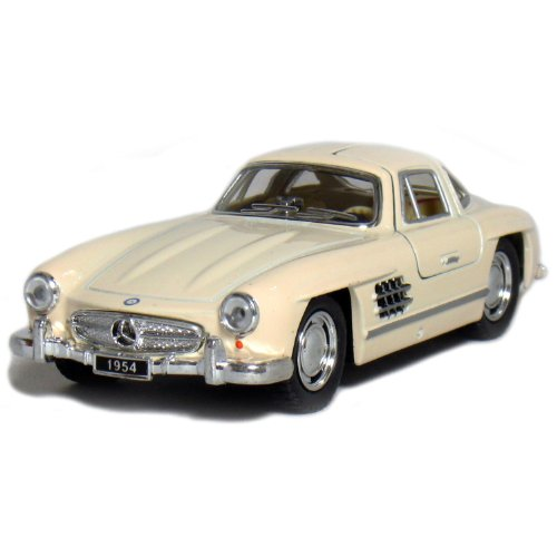 "5"" 1954 Mercedes-Benz 300 SL Coupe 1:36 Scale (Beige)."