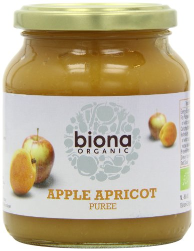 Biona Organic Apple and Apricot Puree 350 g (Pack of 2)