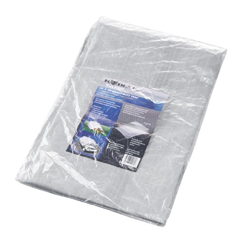 Kodiak Tarps Grey 10' x 20' Tarp Cover Patio or Yard Canopy For Shade or Weather! Heavy Duty at an Affordable Price!