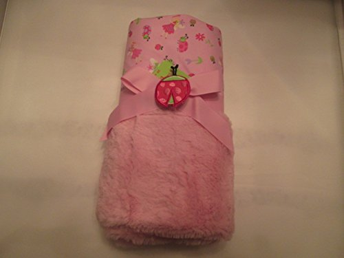 Bay Essentials Plush Reversible Blanket Pink Princess