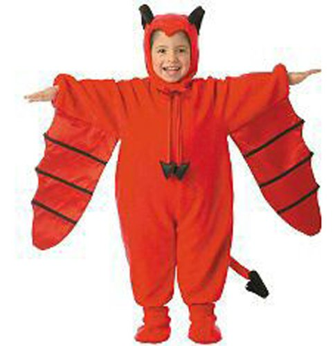 Plush Bat Costume Devil Bat Costume Includes