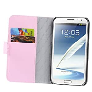 Melkco Luxury Handmade Flip Leather Case with Credit Card Slot for Samsung Galaxy Note II / N7100 (Pink)