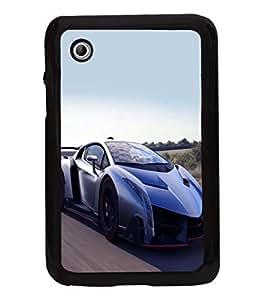 printtech Superfast Car Back Case Cover for Samsung Galaxy Tab 2 7.0 P3100 , Samsung Galaxy Tab 2 (7.0)