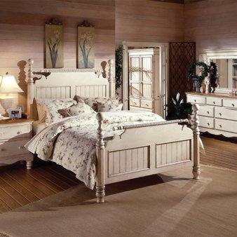 White Bedroom Furniture Set: Hillsdale Wilshire Room Group Post