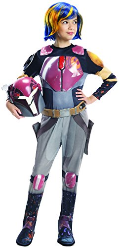 Rubie's Costume Star Wars Rebels Sabine Deluxe Child Costume, Small