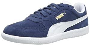 Puma Icra Trainer 356222 Unisex-Erwachsene Sneaker, Blau (dark denim-white 03), EU 43 (UK 9) (US 10)