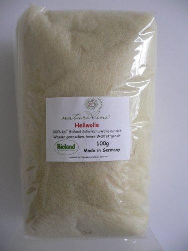HEILWOLLE / Fettwolle 101g Bioland-Qualität, kontrolliert biologische Tierhaltung,