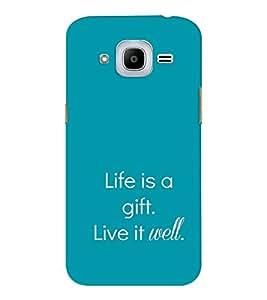 EPICCASE Live is a gift Mobile Back Case Cover For Samsung J2 2016 (Designer Case)