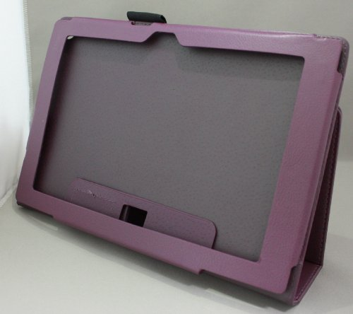 Homu HomuXperia Tablet Z SO-03E全11色PUレザーケース PUレザーカバー エクスペリアタブレットZ レザーケースレザーカバースタンド機能付 ペンホルダー付/SGP312JP (パープル)(24-9)