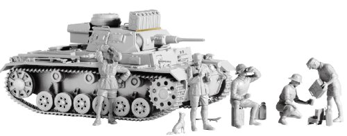 "Buy Low Price Dragon Models 1/35 Pz.Kpfw.III Ausf. G ""Afrika Korps"" With bonus German figure set ""Deutsche Afrika Korps"", value added brake cooling air-intake cover, smoke candle rack, photo-etched parts for Jerry can rack on turret top and magic track (B0031MWTHG)"