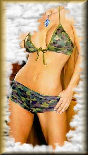 Elegant Girls Camouflage Pattern String Bra Top