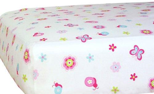 Sumersault Sasha Crib Sheet, Pink (Discontinued by Manufacturer)