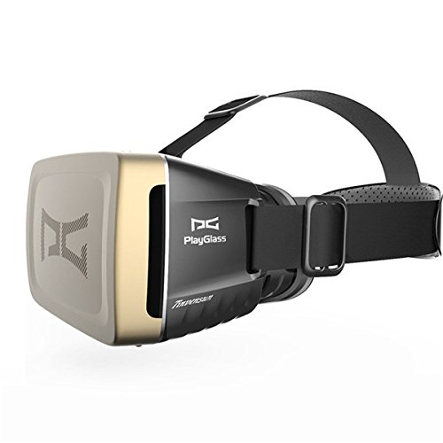 PlayGlass Virtual Reality 3D Video Glasses Google Head Mount Movie Video Game For 4 to 6 Inch Smartphone