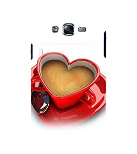 printtech Love Heart Cup Coffee Back Case Cover for Samsung Galaxy A7 / Samsung Galaxy A7 A700F