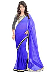 Bano Tradelink Women's Chiffon Saree(7017)