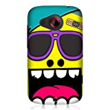 Head Case Designs Yellow Ugly Face Design Snap On Hard Back Case Cover for HTC Desire C