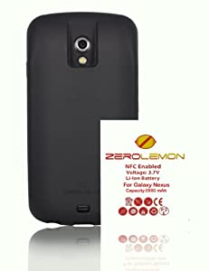ZeroLemon Samsung Galaxy Nexus 5900mAhBlack Full Edge Wrap TPU Case with 180 days Zero Lemon Guarantee Warranty (Compatible with Verizon SCH-i515 / Sprint SPH-L700 ONLY) **WORLD'S HIGHEST CAPACITY GALAXY NEXUS BATTERY** (ZL-i515-black-5900)