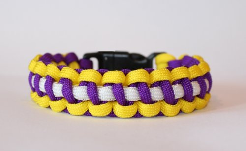 SENC-550-NFL-Military-Spec-Paracord-Survival-Dog-Collar-Minnesota-Vikings