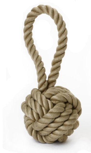 Multipet Nuts for Knots Heavy Duty Large Rope Dog Toy with Tug