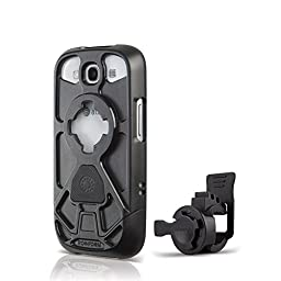 Rokform Sport Series Bike Mount Kit and Rugged Sport Protective Case, Safely lock your phone in place with the Quad Tab and Magnetic Mount System, for Samsung Galaxy S3 (Black)