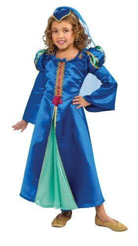 Child's Blue Renaissance Princess Costume Size Small (4-6)