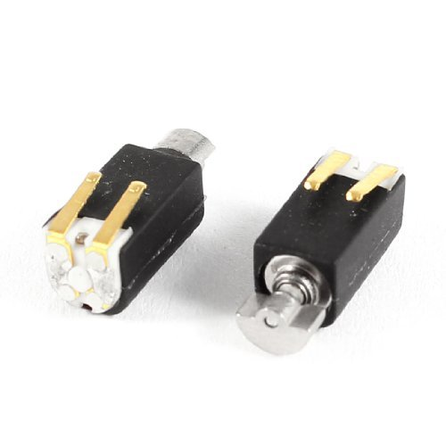 Water & Wood 4.4Mm X 4.4Mm Black Electric 2000Rpm Speed Vibration Motor Dc3V 2 Pcs With Car Cleaning Cloth
