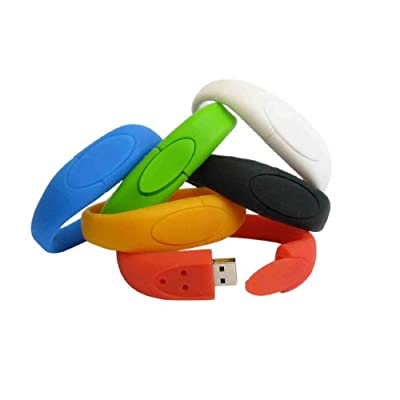 Usb Stick Wristband 4gb White from EASYWORLD