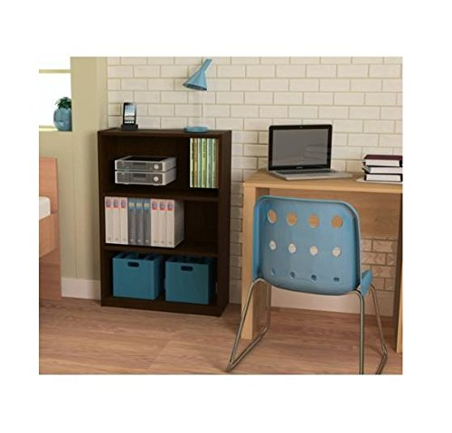 Ameriwood 3-shelf Bookcase, Multiple Finishes. Ideal for Dorm Room, Home Office, Living Room or Any Room. (Espresso) (Glass Bookcase 3 Shelves compare prices)