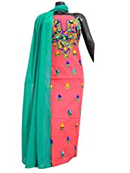Cotton Champa Work Kurta Dupatta Set-Peach 1