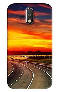 Clarks Road View Hard Plastic Printed Back Cover/Case For Motorola Moto G4